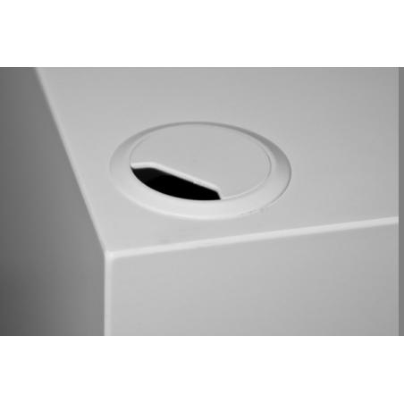 kabeldoorvoer 60 mm wit (inclusief montage)