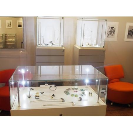 vitrine display met lade, 45 x 60 x 55 cm (lxbxh)