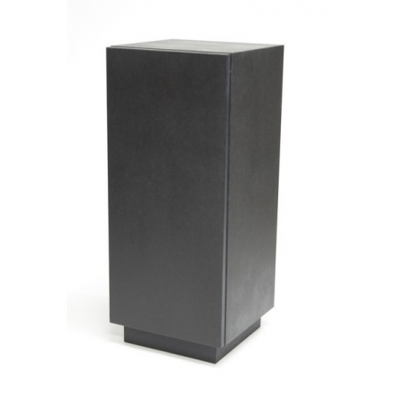 kastsokkel zwart hoogglans, 40 x 40 x 100 cm (lxbxh)