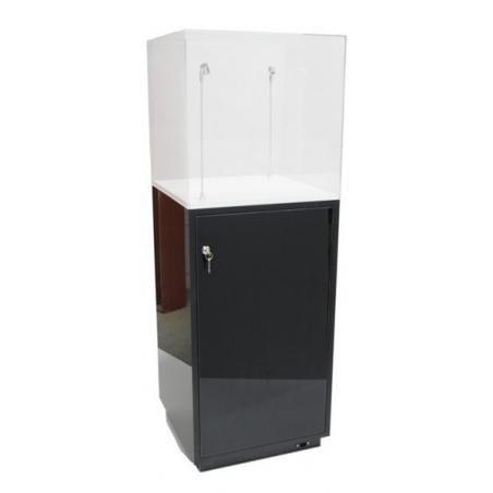 kastsokkel zwart hoogglans, 50 x 50 x 100 cm (lxbxh)