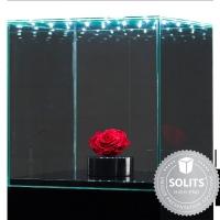 Glazen beschermkap met geintegreerde LED-verlichting 40 x 40 x 40 cm