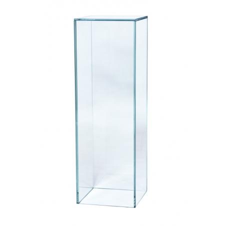 glazen sokkel, 20 x 20 x 100 cm (lxbxh)