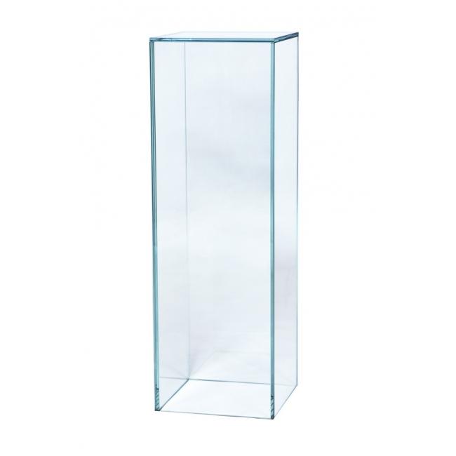 glazen sokkel, 25 x 25 x 60 cm (lxbxh)