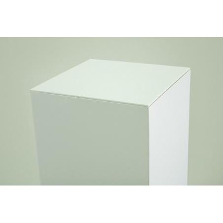 Top 4mm plexiglas wit, afmeting 30,2 x 30,2 cm (t.b.v. kartonnen sokkel)
