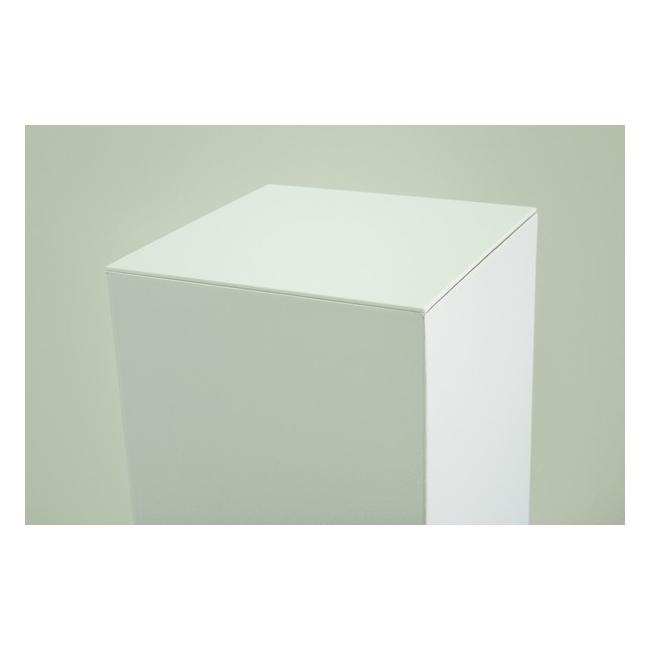 Top 4mm plexiglas wit, afmeting 45,2 x 45,2 cm (t.b.v. kartonnen sokkel)