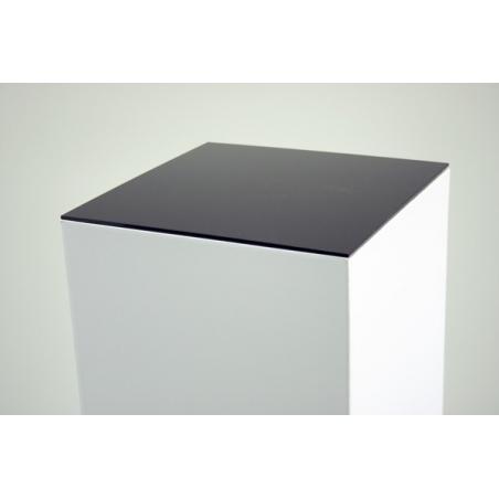 Top 4mm plexiglas zwart, afmeting 30,2 x 30,2 cm (t.b.v. kartonnen sokkel)