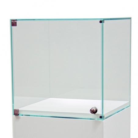 glazen vitrine-kap met deur, 30 x 30 x 30 cm (lxbxh)