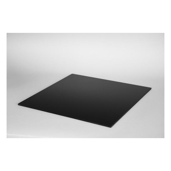 Top 4mm plexiglas zwart, op maat