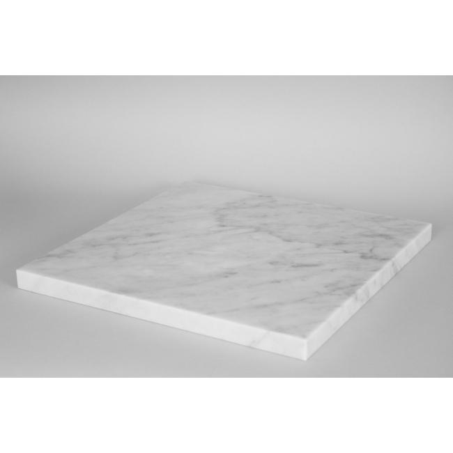 Top wit marmer (Carrara, 20mm), voor sokkel 40 x 40 cm