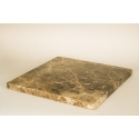 Top bruin marmer (Emperador dark, 20mm), voor sokkel 30 x 30 cm