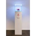 Glazen beschermkap met geintegreerde LED-verlichting 45 x 45 x 45 cm
