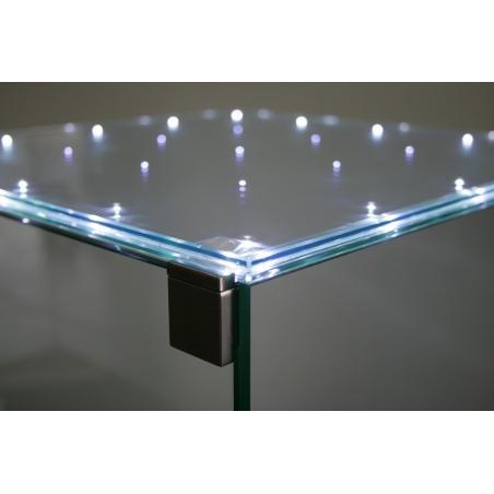 Glazen beschermkap met geintegreerde LED-verlichting 35 x 35 x 35 cm