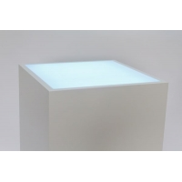 Top verlicht, opaal plexiglas, voor sokkel 30 x 30 cm