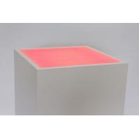 Top verlicht, opaal plexiglas, voor sokkel 35 x 35 cm