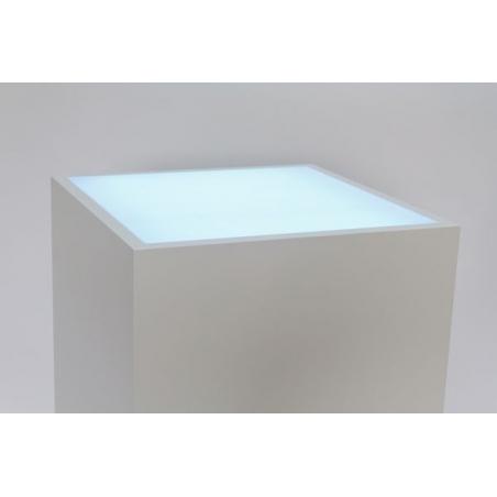 Top verlicht, opaal plexiglas, voor sokkel 45 x 45 cm