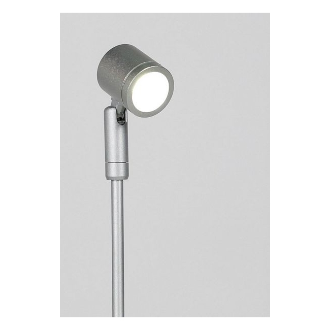 LED-spot, Type 1, 216 mm, 1W, 6000K, Silver (inclusief stroomkabel)