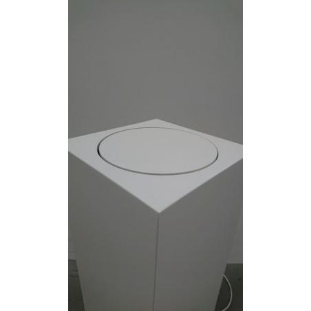 solits sokkel wit 30 x 30 x 100 cm (LXBxH) met draaimodule - SALE