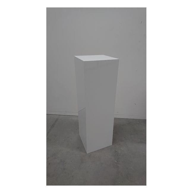 Solits sokkel wit hoogglans 30 x 30 x 110 cm (LXBxH) - SALE