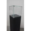 Solits sokkel stonelook, 40 x 40 x 100 cm (lxbxh) + vitrinekap 40 x 40 x 40 cm + 2x LED - SALE