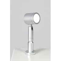 LED-Spot, Type 9 low model, 1W, 6000K, Silver (inclusief stroomkabel)