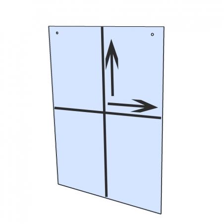 Hangende plexiglas beschermwand / heldere kunststof afscherming voor kassa (incl. bevestigingsmateriaal) op maat
