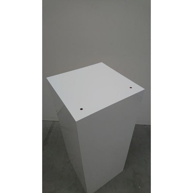 Solits sokkel  wit hoogglans 40 x 40 x 100 (LxBxH) - SALE