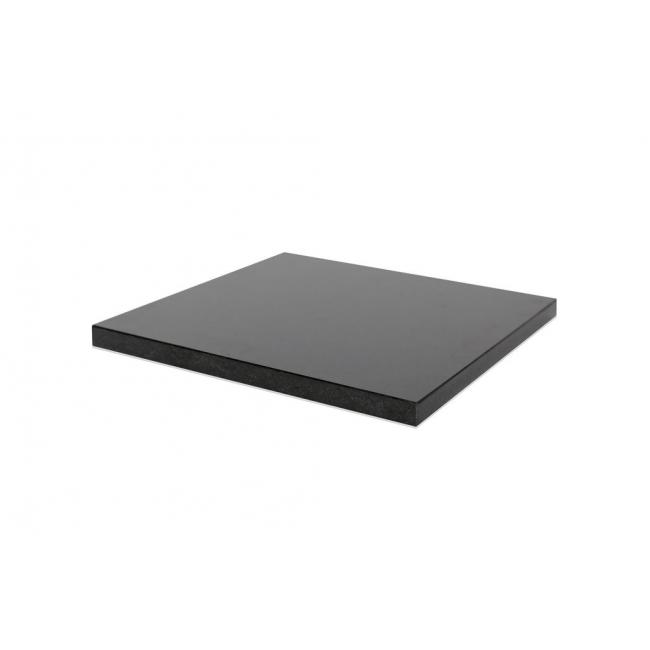 top zwart graniet (gepolijst, 20mm), voor sokkel 30 x 30 cm