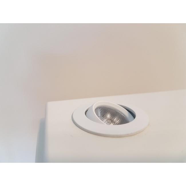 LED-Spot, Type 8B, diam. 35mm. 1W, 6000K, zwart (inclusief stroomkabel)