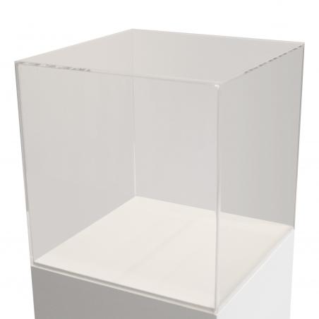 plexiglas vitrine-kap, 20 x 20 x 20 cm (lxbxh)