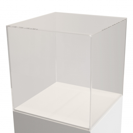 plexiglas vitrine-kap, 45 x 45 x 45 cm (lxbxh)